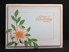 A Flower Shop Birthday Card Stampin' Up! Rubber Stamping Handmade Cards