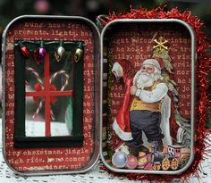 By Amy Rozeboom - Love this .... Santa in a Altoids tin