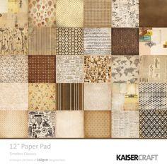 KaiserCrafts Timeless Classics 12x12 Paper Pad