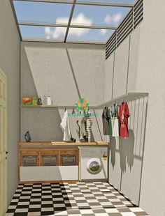 Outside Laundry Room, Outdoor Laundry Rooms, Modern Laundry Rooms, Laundry Room Layouts, Laundry Room Design, Home Room Design, Small House Design, Home Interior Design, Casa Retro
