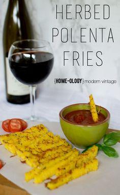 Herbed Polenta Fries | {Home-ology} modern vintage