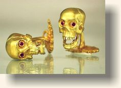 Kim Eric Lilot, Comedy and Tragedy yellow gold cuff links...