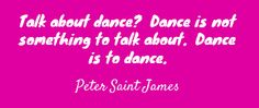 Talk about dance