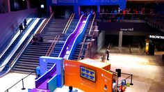 Brand: Microsoft   Product: Microsoft Windows 8  Category: Street marketing campaign  Place: In the UK (Bluewater shopping centre)  Creative concept: Fast and fun - Discover a new way of doing things