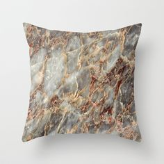 Marble Texture 11 Throw Pillow by Robin Curtiss - $20.00