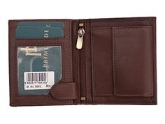 Very Soft Calf leather small wallet - Brown Features  Coin Purse  Internal small zipped pocket  1 Card and 1 picutre style slots  Popper on front opens to reveal card slots