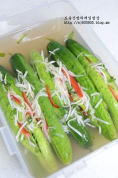 오이소박이 물김치 만드는법!!!//오이소박이물김치 담그기 : 네이버 블로그 Asian Recipes, Healthy Recipes, Ethnic Recipes, Brunch Cafe, K Food, Korean Dessert, Kimchi, Korean Food, Food Plating