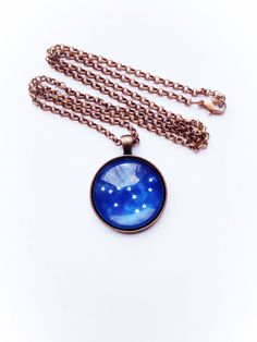 Capricorn Star Constellation Necklace by InfinityNaturals on Etsy