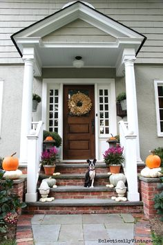 Love this fall porch