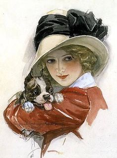 Girl with Puppy - Counted cross stitch pattern in PDF format by Maxispatterns on Etsy