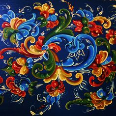 traditional swedish painting | ... painted a whole pew in traditional Swedish/Norwegian rosemaling like