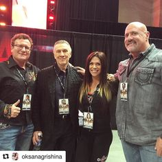 #Repost @oksanagrishina with @repostapp  At Meet The Olympians with IFBB and NPC President Jim Manion  IFBB and NPC Head Judge Steve Weinberger and Dr. Robert Goldman Chairman of the IFBB Medical Commission. What an honor for me! @ifbbpro @bevsgym @mr.olympiallc @npcnewsonline2015 @jmmanion