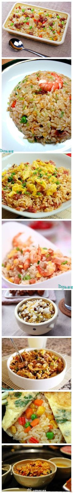 the simplest fried rice with egg and green onion is the best.