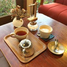 和紅茶とカフェオレ  #cafe #coffee #tea #雑貨カフェ