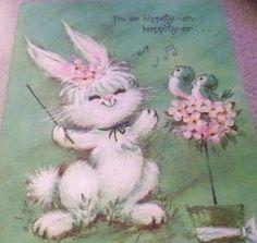 Bunny Rabbit with Singing Birds