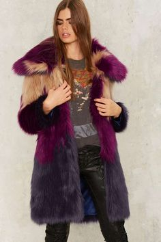 Nasty Gal Collection What the Faux Fur Coat - Jackets + Coats