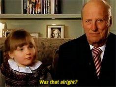 King Harald and Princess Ingrid Alexandra.  Aww.