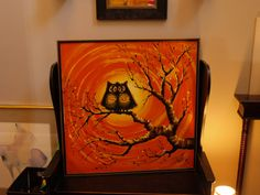 THIS!  My parents had this painting before I was born.  Hung in a room with orange shag carpet, in true 60s/70s fashion.  This picture is why I have always loved owls.  I hope they write into their will that I get it!
