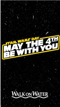 Have a wonderful day and May the 4th Be With You Star Wars Day, Walk On Water, Days Of The Year, The 4, Photo And Video, Film, Movie Posters, Instagram, Movie