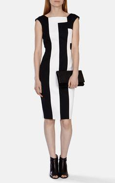 Vertical stripe panelled dress   Luxury Women's stripes   Karen Millen