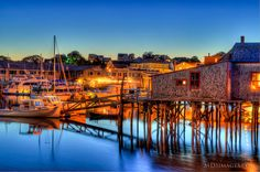 Boothbay Harbour ME go for the lobster stay for the sunsets, kayaking and beach-glass hunting!