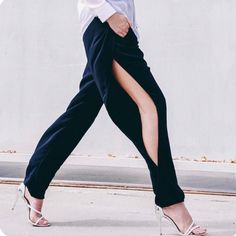 YES! Pants with a slit @shoptasteonline