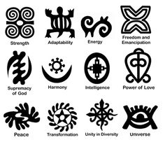 Gourd Stamps - Adinkra Adinkra symbols are found throughout Ghana and the Ivory Coast , beautiful West African countries on the Atlantic Ocean. These Asante (Ashanti) tribe symbols can be found everywhere on cloth and walls, in pottery and logos.