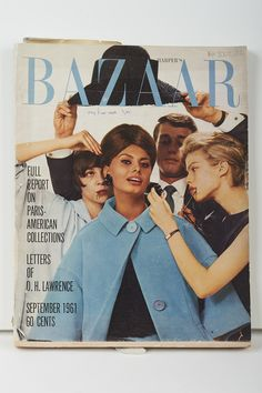 Harper's Bazaar, September 1961 The appearance of her designs in these magazines firmly established Sybil as an internationally recognised designer on par with those from Paris, London and New York.