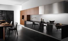 contemporary timber modern kitchen design