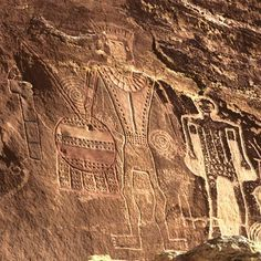 The Uinta Basin in Northeastern Utah features some of the finest rock art in Utah and a very distinct subdivision of Fremont Style, Classic Vernal Style. Ancient Aliens, Ancient History, Art History, European History, American History, Native Art, Native American Art, Art Rupestre, Cave Drawings