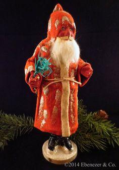 Antique German Long Coat Santa Candy Container