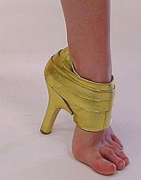 World Most Bizarre Shoes Ever? .... OH wait ... Never mind ... These aren't shoes ....