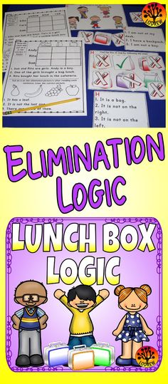 64 pages of logic puzzles in a lunch box theme. Activities include reading, critical thinking, using logic, colors, sight words, reading comprehension, drawing conclusions, comparing, task cards, lunchbox centers, food centers, lunch bags, positions, hands on problem solving, ordinal positions, true or false, literacy, math, no prep, and more. For kindergarten, first grade, preschool, SPED, child care, homeschool, or any early childhood setting.