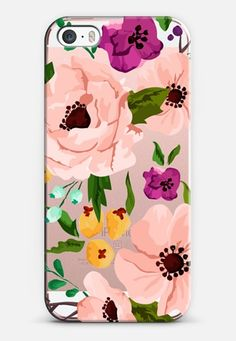 Casetify iPhone SE Classic Snap Case - Pretty Flowers by Jande Laulu Pink Phone Cases, Cool Iphone Cases, Diy Phone Case, Cute Phone Cases, Iphone 7 Plus Cases, Cellphone Case, Tumblr Phone Case, Diy Case, Cute Cases