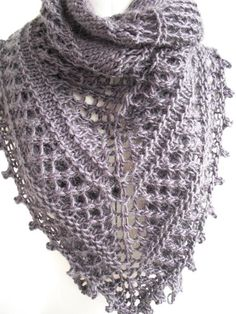 Bilberry Shawl- a chunky shawl. Love it. Knit with Cocoon. I may have to!