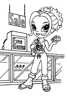 coloring sheetslisa frank coloring pages girl coloring