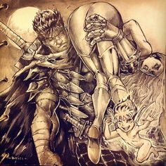 Guts, Puck and Farnese. Remember how they met?? haha