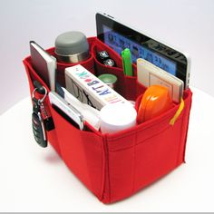 **HIGH QUALITY FELT ORGANIZER** This is a super light weight as we use 2mm felt to make this item. Suitable for C: small tpz type. It has total 10 pockets (9+1 ipad). To reinforce the insert struct…