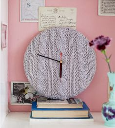 Knitted clock | Yours Magazine | The read of your life every fornight