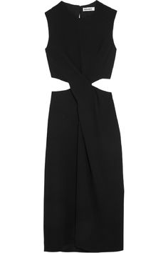 Clever cut-outs adds a sultry touch to this Jil Sander crepe midi dress $1300, available here: style.me/~7Ys4I