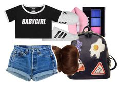 """C•A•L•I•F•O•R•N•I•A"" by arleenax on Polyvore featuring NYX, WithChic, adidas, ASOS and Levi's"