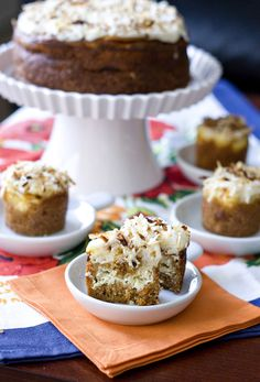 a twist on a southern classic - carrot cake with a layer of cheesecake! yes please