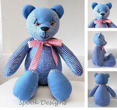 A personal favorite from my Etsy shop https://www.etsy.com/listing/461655146/memory-bear-made-to-ordercustom