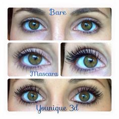 BIG Lashes using Fibre Mascara by Younique Cosmetics. Something that I have never thought could exist and use natural Green Tea Fibres 😃 3d Fiber Mascara, 3d Fiber Lashes, 3d Fiber Lash Mascara, Big Lashes, Thick Lashes, Eyelashes, Best Mascara, No Photoshop, Fibres