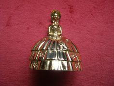 """Beautiful Vintage Brass Dinner / Table Bell Victorian Lady - 4"""" Tall by Something2SingAbout on Etsy"""