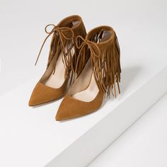 FRINGED LEATHER HIGH HEEL SHOES-View All-SHOES-SALE-WOMAN | ZARA United States