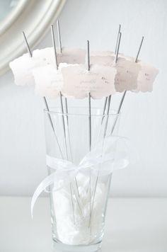 Wunderkerzen für die Hochzeit, Hochzeitsdeko, Accessoires, Hochzeitsgäste / wedding ideas: sparkler for wedding guests made by little-pink-butterfly via DaWanda.com