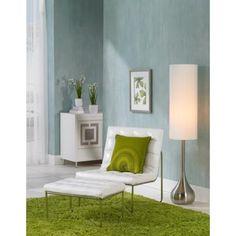 Possini Euro Brushed Steel Moderne Droplet Floor Lamp - #79456 | LampsPlus.com