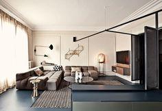 A modern house in Paris / Una casa moderna a Parigi