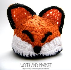 Crochet Fox Hat /Photo Prop for Newborns  Baby animal hat crochet fox etsy  Handmade